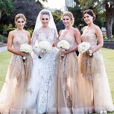 Bridesmaid Dresses Online Pretty Applique Bridesmaid Dresses 2016 Sweetheart Neckline Floor