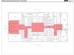 public floor plans public hearing held on interior designations for waldorf astoria