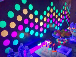 glow in the party decorations image result for party decoration ideas party