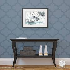 Modern Trellis Wallpaper Grenadine Trellis Raven Lily Wall Stencil Living Room Accents