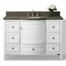 Lowes 48 Bathroom Vanity by Shop Ancerre Designs Lauren White Undermount Single Sink Bathroom