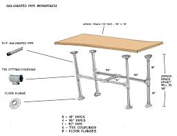 Diy Pipe Desk by Galvanized Pipe Workbench Diy Home U0026 Family Work Pinterest