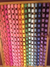 paper chain backdrop hung from a curtain rod would also work as a
