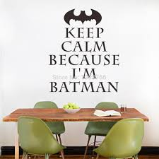 i m batman keep calm wall art stickers for kids rooms decal diy see larger image