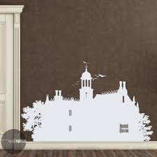 haunted mansion silhouette vinyl wall decal sticker walt zoom