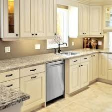 Kitchen Cabinet Tiles Kitchen With Off White Cabinets Stone Backsplash And Bronze