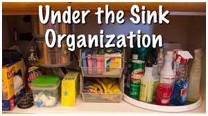 cabinet under kitchen sink organization under the sink