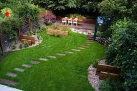 Simple Backyard Landscapes  Beautiful And Simple Backyard - Simple backyard design