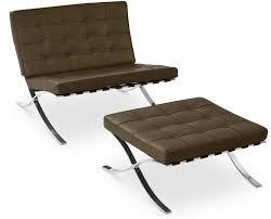 siege capitonné fauteuil avec ottoman capitonné cuir taupe cubik lestendances fr