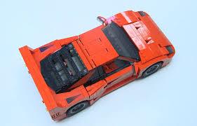 ferrari lego f40 lego creates awesome miniature ferrari f40 we love it