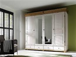 Schlafzimmerschrank Zerlegen Kleiderschrank 4türig 253x219x63cm 2 Spiegeltüren 4 Schubladen