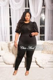 black sequin jumpsuit sale plus size sequin jumpsuit with sleeves in black