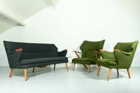 MidCentury Sofa Chairs And Table Lounge Set For Sale At Pamono - Table sofa chair