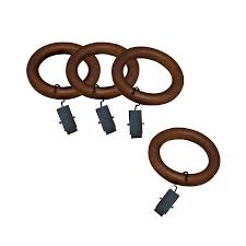 allen roth 7 pack gany wood curtain rings