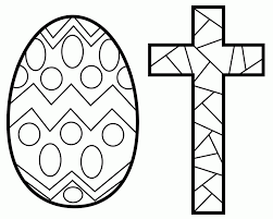 easter cross coloring page 485004