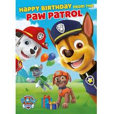 paw patrol grandson birthday card danilo