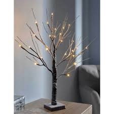 twig christmas tree pre lit led twig christmas tree with snow effect decoration 2 ft
