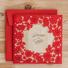Invitation Cards Party Aliexpress Com Buy Laser Cut Wedding Invitations Cards Red Black