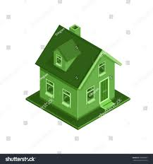 eco friendly house vector illustration eco friendly modern house stock vector