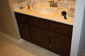 How To Redo Bathroom Cabinets Painting Bathroom Cabinet