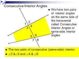 Same Side Interior Angles Definition Geometry Geometry Notes Sections Ppt Download