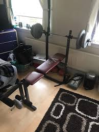weight bench with barbell holder in dundee gumtree