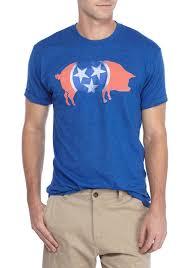 Tennesse Flag Crown U0026 Ivy Short Sleeve Tennessee Flag Tee Royal Men U0027s Clothing