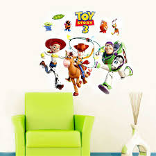 Boy Nursery Wall Decals by Toy Story 3 Wall Sticker Art Decals For Kids Boys Room