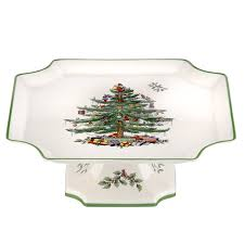 spode tree footed square cake plate 10