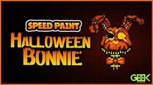 halloween pic art halloween bonnie speedpaint five nights at freddy u0027s 4 pixel