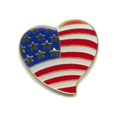 Pin Flags Usa Flagge Flag Patrioten Herz Heart Amerika Badge Button Pin