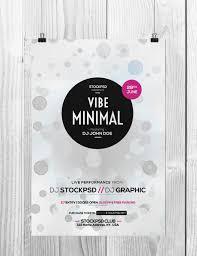 minimal poster template