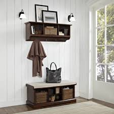 Entryway Sconces Wonderful Entryway Bench Shelf With Wicker Basket Storage Under