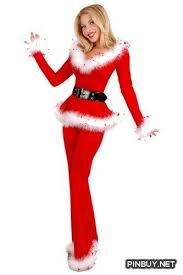 WomensMiss Sexy Party Fancy Velvet Pants Xmas Santa Claus Costume