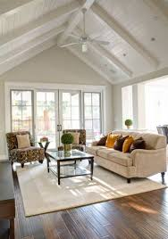 home office vaulted ceiling living room and kitchen craftsman