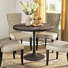 modern round dining room tables amazon com modway drive wood top dining table in brown kitchen