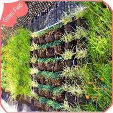 horizontal pocket decoration wall garden planter planting bag