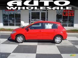 red nissan versa 2010 red alert nissan versa 1 8 s hatchback 27850830 gtcarlot
