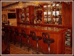magnetizing idea of bar designed by granite top of brown wooden