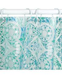 morocco geometric pattern peva shower curtain liners zenith home