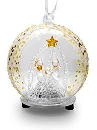 amazon com led glass globe christmas ornament hand painted