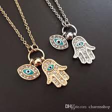 eye pendant necklace images Wholesale hamsa hand evil eye pendant necklace rhinestone hand jpg