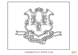 flag of connecticut coloring page free printable coloring pages