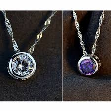 round crystal necklace images Crystal from swarovski elemnts love round pendant necklace for jpg