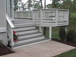 Exterior Stair Railing by Composite Deck Stair Railing U2014 Railing Stairs And Kitchen Design