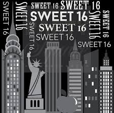 backdrop city new york party backdrop 16th birthday glam party dessert