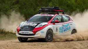 some beautiful lunatic built a nissan leaf electric rally car