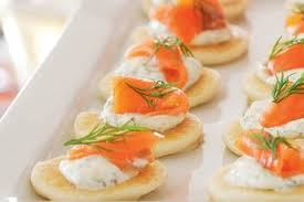 bellini canape smoked salmon and creme fraiche blinis recipes bite