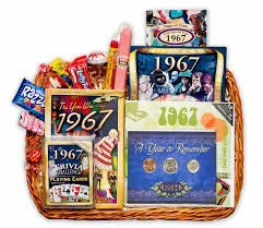 50th anniversary gifts anniversary gift basket for 1967