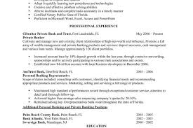 Private Banker Resume Sample by Personal Banker Resume Examples Professional Experience Writing
